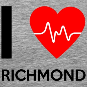 I Love Richmond - Jeg elsker Richmond - Premium T-skjorte for menn