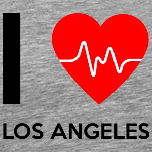 I Love Los Angeles - Jeg elsker Los Angeles - Premium T-skjorte for menn