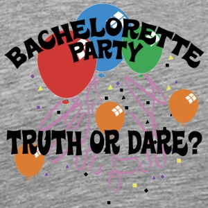 Bachelorette Party Truth or Dare - Herre premium T-shirt