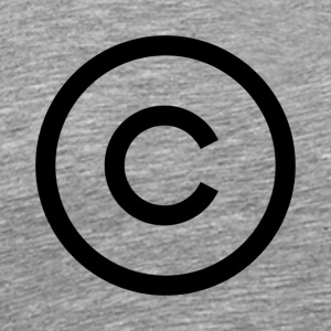 copyright logo - Men's Premium T-Shirt