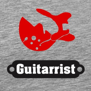 Gift for rocker, gitar - Premium T-skjorte for menn