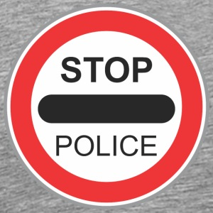Road sign Stop politiet - Premium T-skjorte for menn
