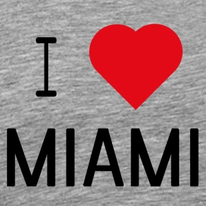 I Love Miami - Premium T-skjorte for menn