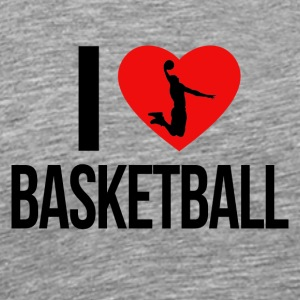 I LOVE BASKETBALL - Männer Premium T-Shirt