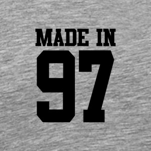 MADE IN 97-1997 - VERJAARDAG - Mannen Premium T-shirt