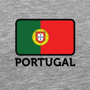 National Flag Of Portugal - Premium-T-shirt herr
