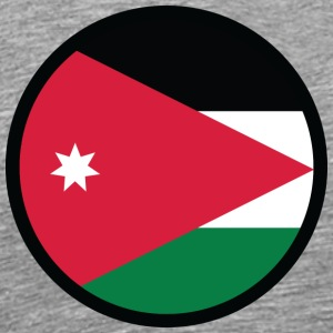 National Flag Of Jordan - Premium T-skjorte for menn