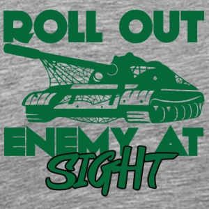 Militair / Soldier: Roll Out Enemy At Sight - Mannen Premium T-shirt