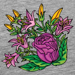 1purple flowers - Men's Premium T-Shirt