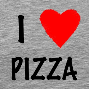 I Love Pizza - Herre premium T-shirt