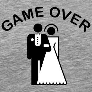 Game Over Just Married - Premium T-skjorte for menn