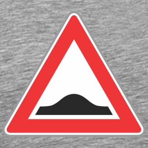 Road Sign Up driehoek rood - Mannen Premium T-shirt