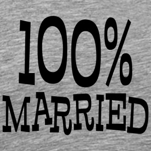 Just Married 100% - Mannen Premium T-shirt