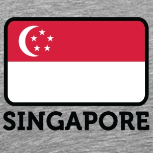 National Flag Of Singapore - Premium-T-shirt herr