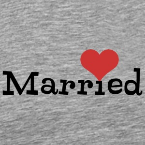 Just Married With Heart - Men's Premium T-Shirt