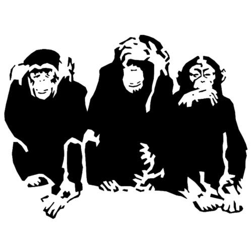 3 monkeys - T-shirt Premium Homme