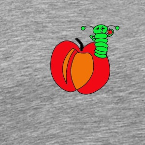 Apple, worm - Men's Premium T-Shirt