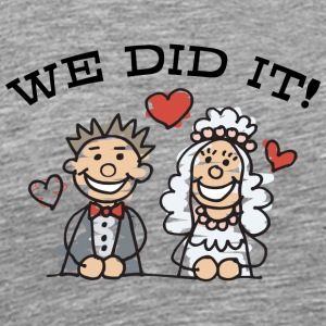 Just Married Vi gjorde det - Premium-T-shirt herr