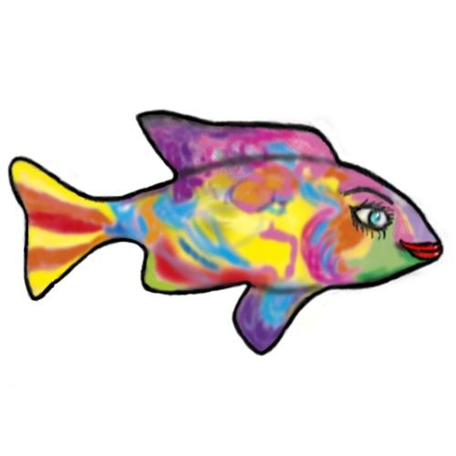 fish graphic trasp - Maglietta Premium da uomo