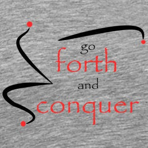 Forth and conquer red - Men's Premium T-Shirt