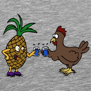 chicken191 - Premium-T-shirt herr