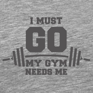 gym - Premium-T-shirt herr