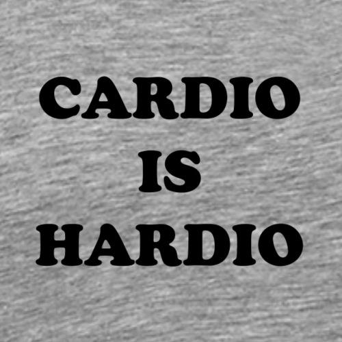 cardio is hardio - Premium-T-shirt herr