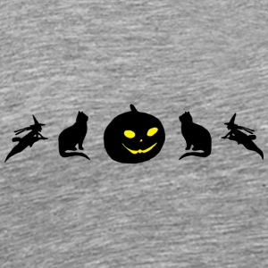 Halloween Cat - Men's Premium T-Shirt