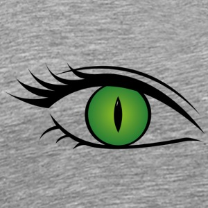 Wild cat eye green - Männer Premium T-Shirt
