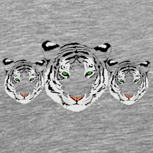 withe Tiger - Herre premium T-shirt