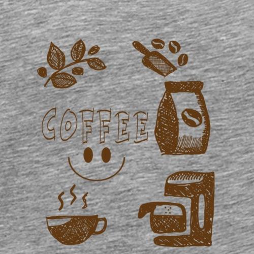 Coffee - Miesten premium t-paita
