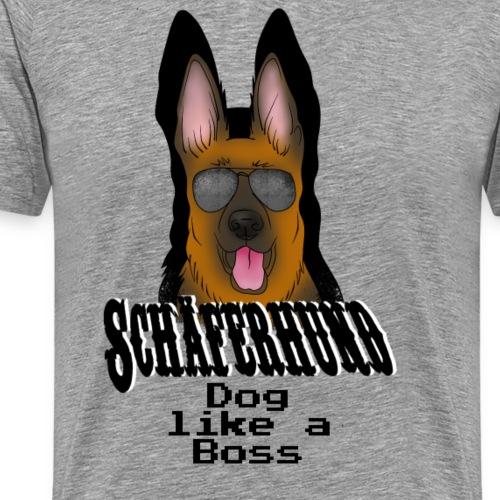 Deutscher Schäferhund Dog like a boss - Männer Premium T-Shirt
