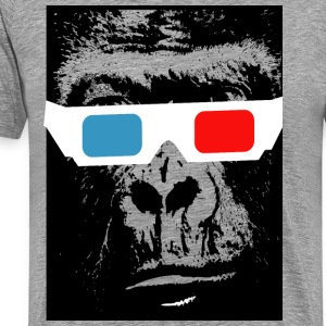 3D chimp - Men's Premium T-Shirt