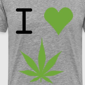i love weed - Premium T-skjorte for menn