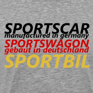 Sports Car - Premium T-skjorte for menn