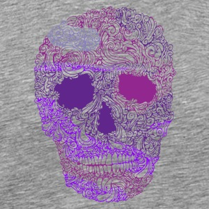 Utsmykkede-Skull-in-Purple - Premium T-skjorte for menn