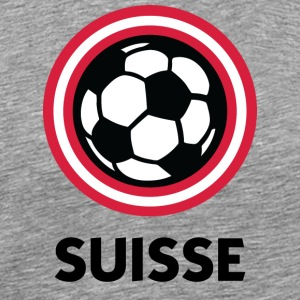 Switzerland Football Emblem - Men's Premium T-Shirt