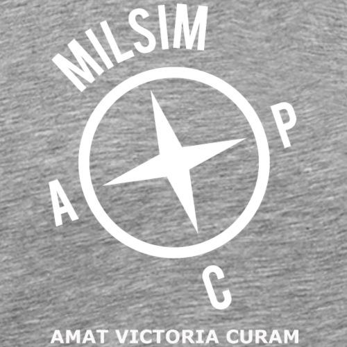 Milsim ACP blanc - T-shirt Premium Homme