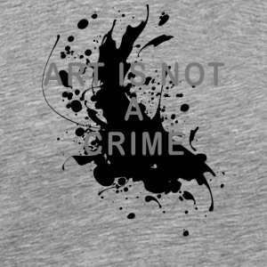 Art is not a crime (paint) - Men's Premium T-Shirt