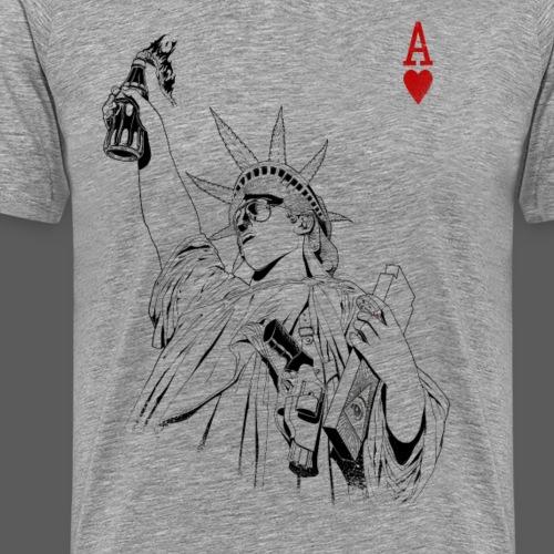 freedom_bw - Maglietta Premium da uomo