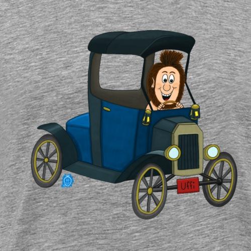 Uffi fährt Oldtimer - Männer Premium T-Shirt