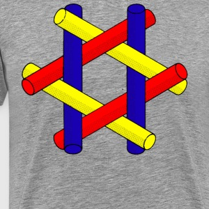 Optical Illusion Pipes Design - Männer Premium T-Shirt