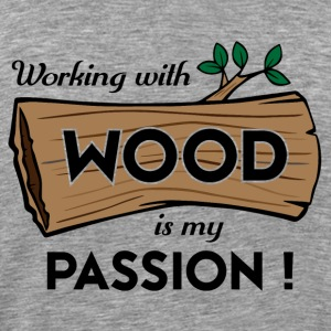Passion Art Wood - Herre premium T-shirt