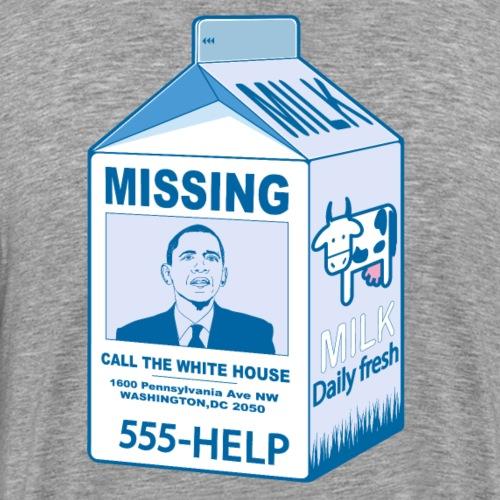 Missing Barack Obama - T-shirt Premium Homme