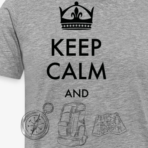 keepcalmandexplore - Men's Premium T-Shirt
