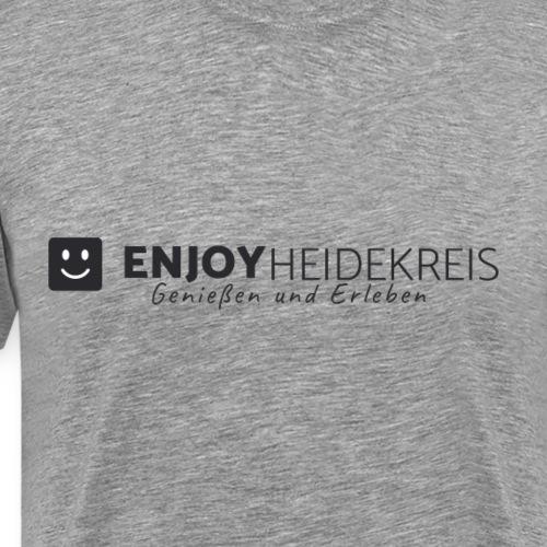 Enjoy Heidekreis black - Das Design zum Blog - Männer Premium T-Shirt