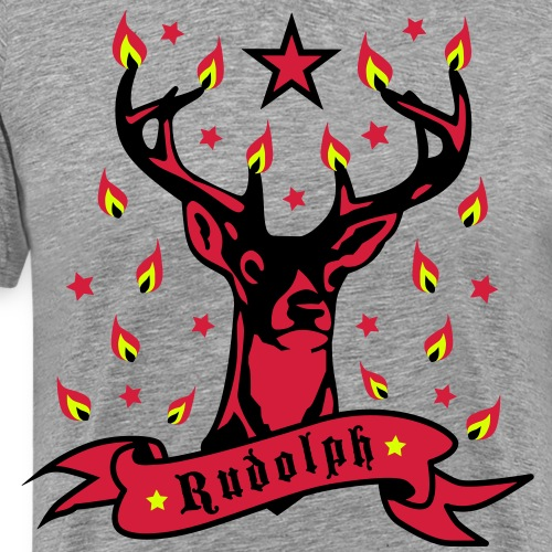 Stolzer Hirsch Rudolph 3c Stern Lichter Glamour - Männer Premium T-Shirt