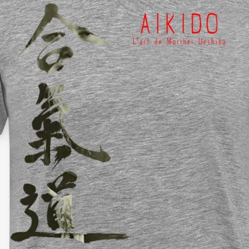 AIKIDO l'art de Morihei Ueshiba - T-shirt Premium Homme