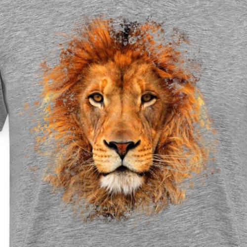Lion Animal Cool Artistic Paint Splatter - Men's Premium T-Shirt
