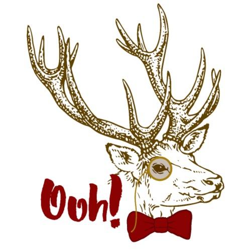 Funny Ooh DEER vintage bow tie monocle design - Männer Premium T-Shirt